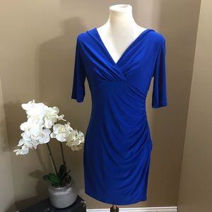 Lauren Ralph Lauren Blue Ruched Dress